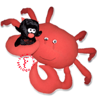 Individual sewing - stuffed toys crab and devil