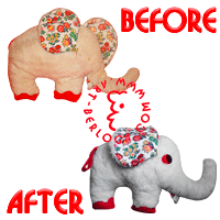 Restoration toy plush elephant