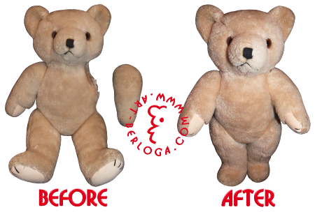 Teddy bear hand restoration