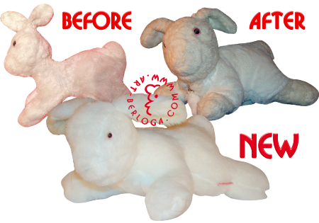 Restoration stuffed toy bunny Stephen