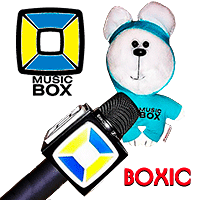 Corporate hero teddy bear Boxic for Music-box Chanel