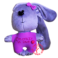 Flirt toy bunny i'm crazy in love