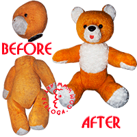 Restoration toy yellow teddy bear.
