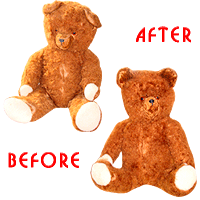 Restoration of a toy bear 45 years