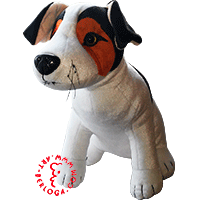 Individual toy plush puppy