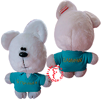 Individual tailoring of flirt teddy bear.