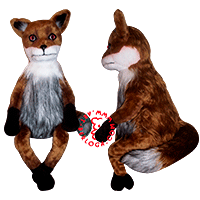 Custom plush copy of stoned fox.