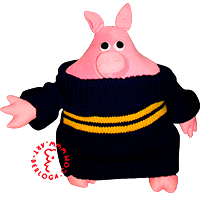 Willborn piglet soft toy.
