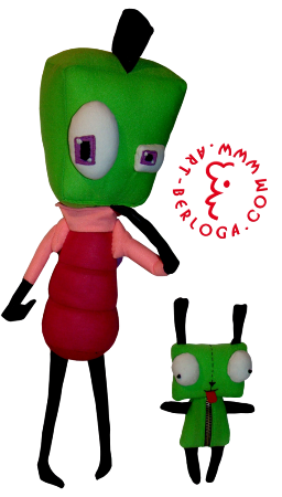 Individual sewing Invader Zim