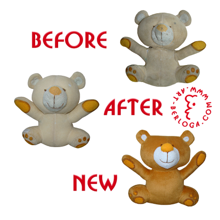 Restoration and copy of litle teddy bear