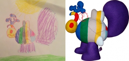 Toy by child's drawing - Roch