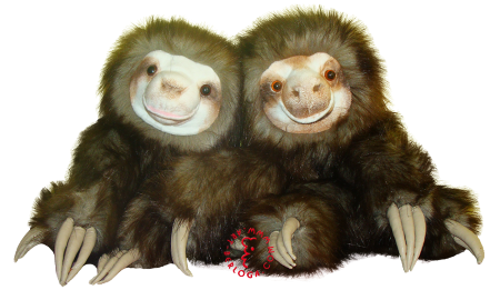Sloths hand puppets.
