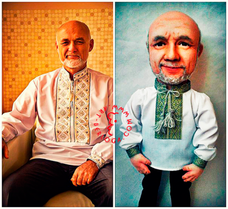 Portrait cartoon doll