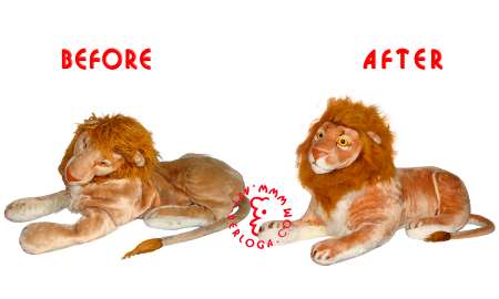 Restoration of a big soft lion