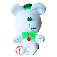Flirt toy Green love bear