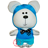 Flirt toy blue Sailor bear