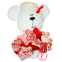 Flirt toy many hearts bear