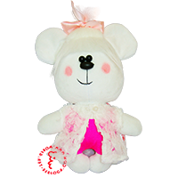 Flirt toy pink girl bear