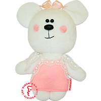 Flirt toy pink dress bear