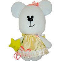Flirt toy lady bear with star