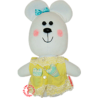 Flirt toy lady bear two heards