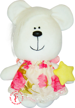 Flirt toy girl star bear