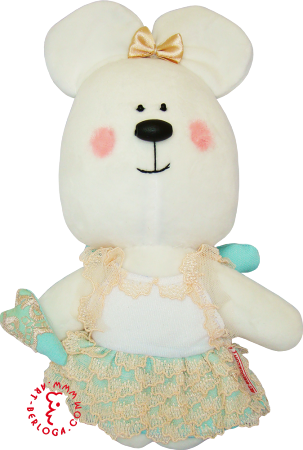Flirt toy girl bear turquoise heart.