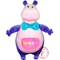 Hand puppet soft toy with a logo