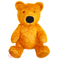 Golden-fire-colored custom-made teddy bear