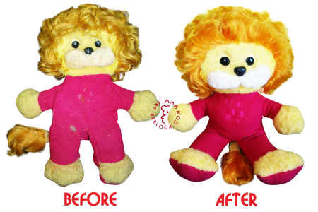 Restoration of your favorite soft toy lion