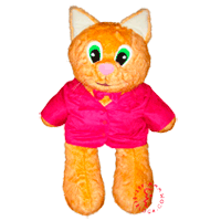 One and a half meter tall plush cat - an immigrant to Romania